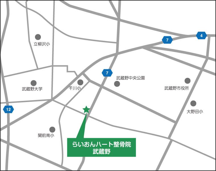 らいおんハート整骨院-武蔵野の地図