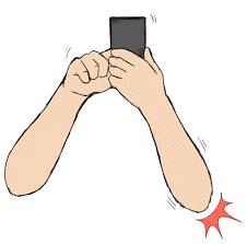 これってスマホ肘?スマホを使っていると最近肘周りが痛い‼